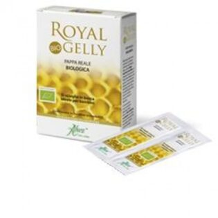 Aboca Royal Gelly Bustine Pappa Reale. Integratore Alimentare Pappa Reale Biologica. Adatto a Bambini e Adulti