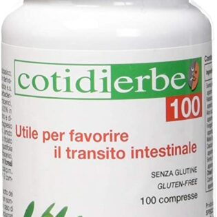 CotidiErbe Transito Intestinale. Complemento Alimentare a base di erbe officinali utili per favorire il transito intestinale